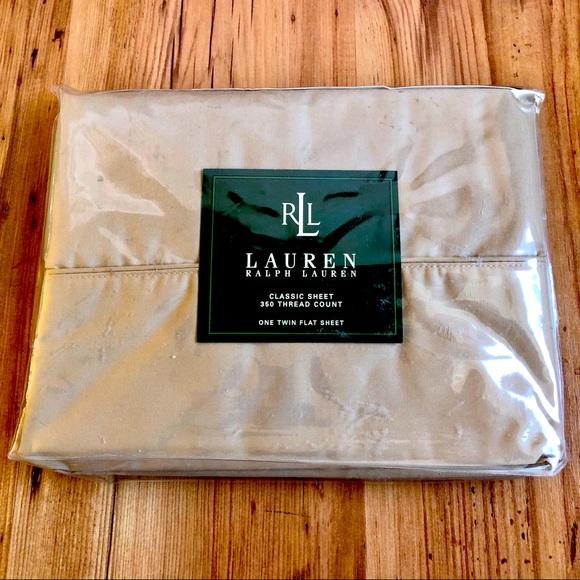 NEW Ralph Lauren Twin Flat Sheet